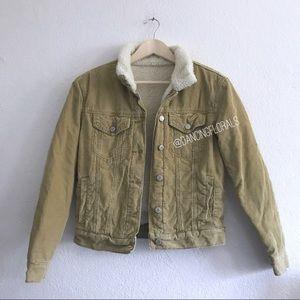 Brandy Melville Shaine Tan Corduroy Jacket